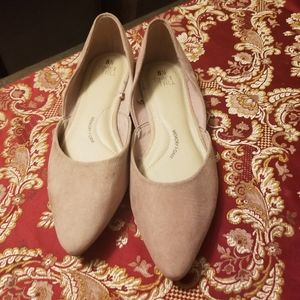 Memory foam Pointed toe Suede flats
